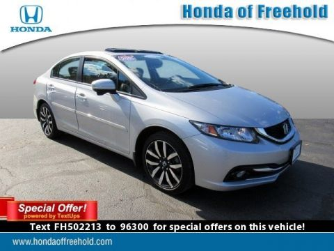 Certified Pre-Owned 2015 Honda Civic Sedan 4dr CVT EX-L w/Navi Front Wheel Drive 4dr Car